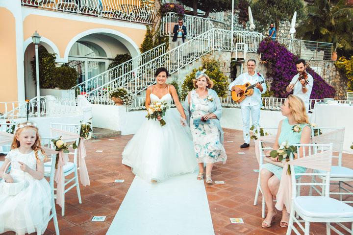 destination wedding in positano